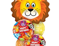 Lovable Lion Birthday Balloon Bouquet