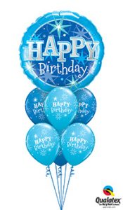 BIG-Birthday-Blue-Sparkle Balloon Bouquet