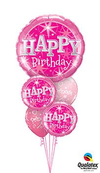 BIG-Birthday-Pink-Sparkle Balloon Bouquet