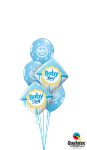 Baby Boy Dots & Stripes Balloon Bouquet
