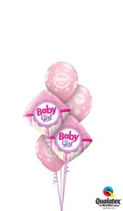Baby Girl Dots & Stripes Balloon Bouquet
