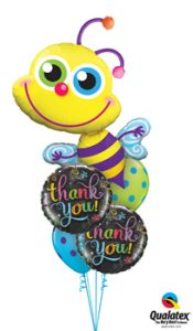 Beaming Bee Says Thankyou Balloon Bouquet