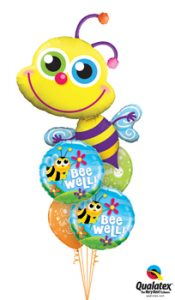 Beaming Bee Well Balloon Bouquet