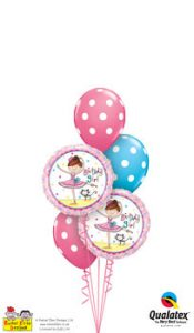 Birthday Ballerina Girl Balloon Bouquet