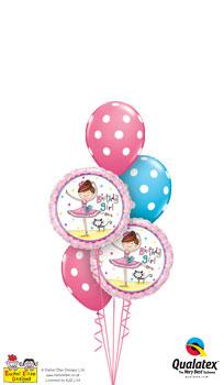Birthday Ballerina Girl Balloon Bouquet