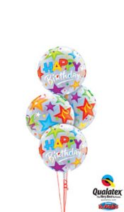Birthday Brilliant Stars Bubble Balloon Bouquet