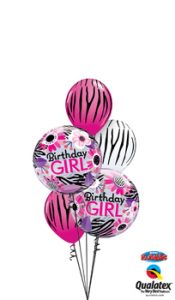 Birthday Girl Double Bubble Balloon Bouquet