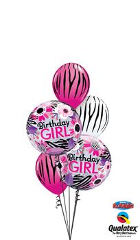 Birthday Girl Double Bubble Balloon Bouquet