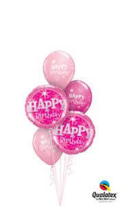 Birthday Pink Sparkle Balloon Bouquet