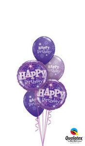 Birthday Purple Sparkle Balloon Bouquet