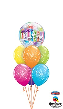 Birthday Sorbet Bubble Balloon Bouquet