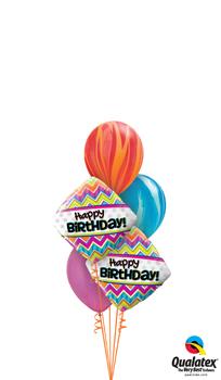 Birthday Stripes Balloon Bouquet