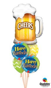 Cheers-Beer-Mug Balloon Bouquet