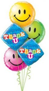 Colourful Thank you Smiles Balloon Bouquet