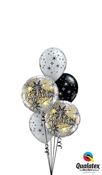Elegant Congratulations Balloon Bouquet