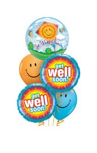 Get Well Soon Kite Bubble Balloon Bouquet
