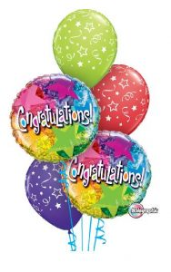 Holographic Congratulations Balloon Bouquet