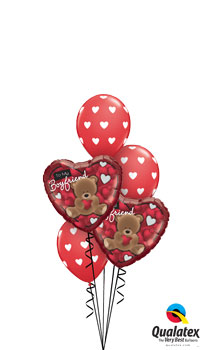 Love My Boyfriend Balloon Bouquet
