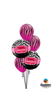 My Stripey Valentine Balloon Bouquet