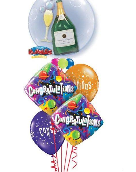 Party Champagne Congrats Balloon Bouquet