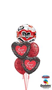 Valentine Love Hearts Balloon Bouquet