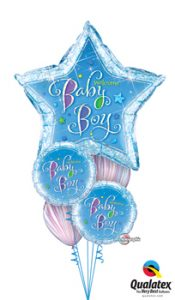 Welcome Baby Boy Star Balloon Bouquet