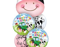 Contented Cow Birthday Balloon Bouquet