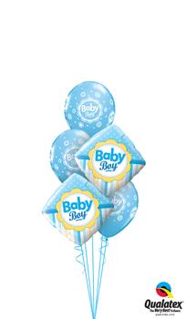Baby Boy Dots & Stripes Balloon Bouquet