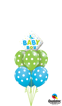 Baby Boy Dots and Dragonflies Balloon Bouquet