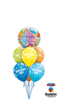 Birthday Boy Bubble Balloon Bouquet