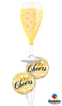Cheers Star Bursts Balloon Bouquet