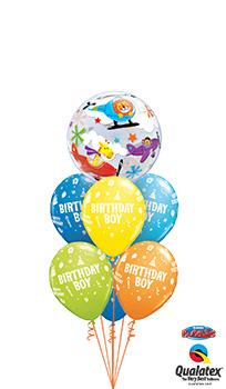 Circus-Boy-Birthday Balloon Bouquet