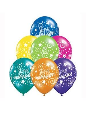 Colourful Anniversary Wishes Balloon Bouquet