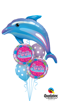 Delightful Blue Dolphin Balloon Bouquet