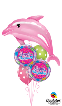 Delightful Pink Dolphin Balloon Bouquet