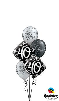 Elegant Sparkles Milestone Balloon Bouquet