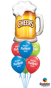 Fathers Day Cheers Balloon Bouquet