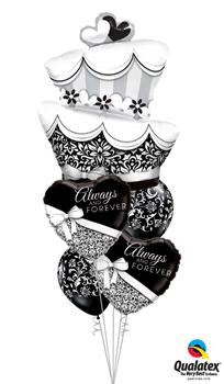 Fun and Fab Wedding Cake Balloon Bouquet
