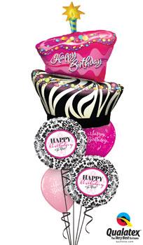 Funky Birthday Balloon Bouquet