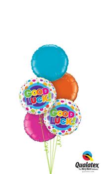 Good Luck Colourful Dots Balloon Bouquet