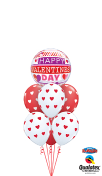 Happy Valentines Day Balloon Bouquet