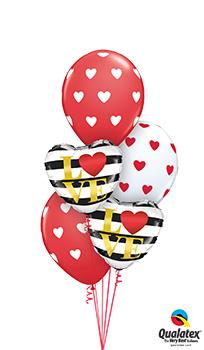 Heart-L(Heart)VE Balloon Bouquet