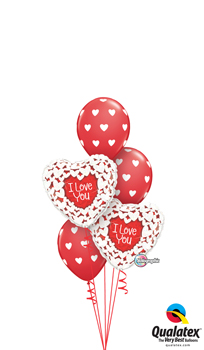 Holographic Love Wishes Balloon Bouquet