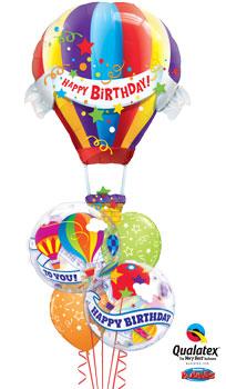 Hot Air Birthday Balloon Bouquet