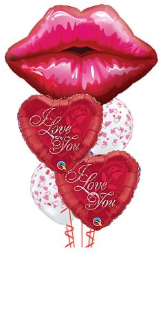 Lovey Lips Balloon Bouquet