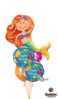 Merry Mermaid Birthday Balloon Bouquet