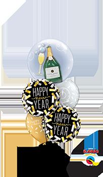 NYE confetti countdown Balloon Bouquet