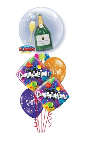 Party Champagne Congrats Balloon Bouquet