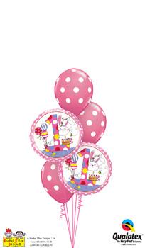Rachel-Ellen - 1st-Birthday-Bunnies Balloon Bouquet