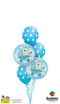 Rachel Ellen - Baby Boy Stroller Balloon Bouquet